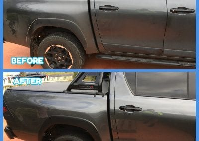 Pickup truck before and after detailing - Car